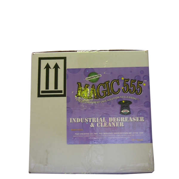 MAGIC 555 Industrial Degreaser & Cleaner (4 x 1 Quart Bottles box)